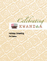 Kwanzaa7 Greeting Card (4x55)